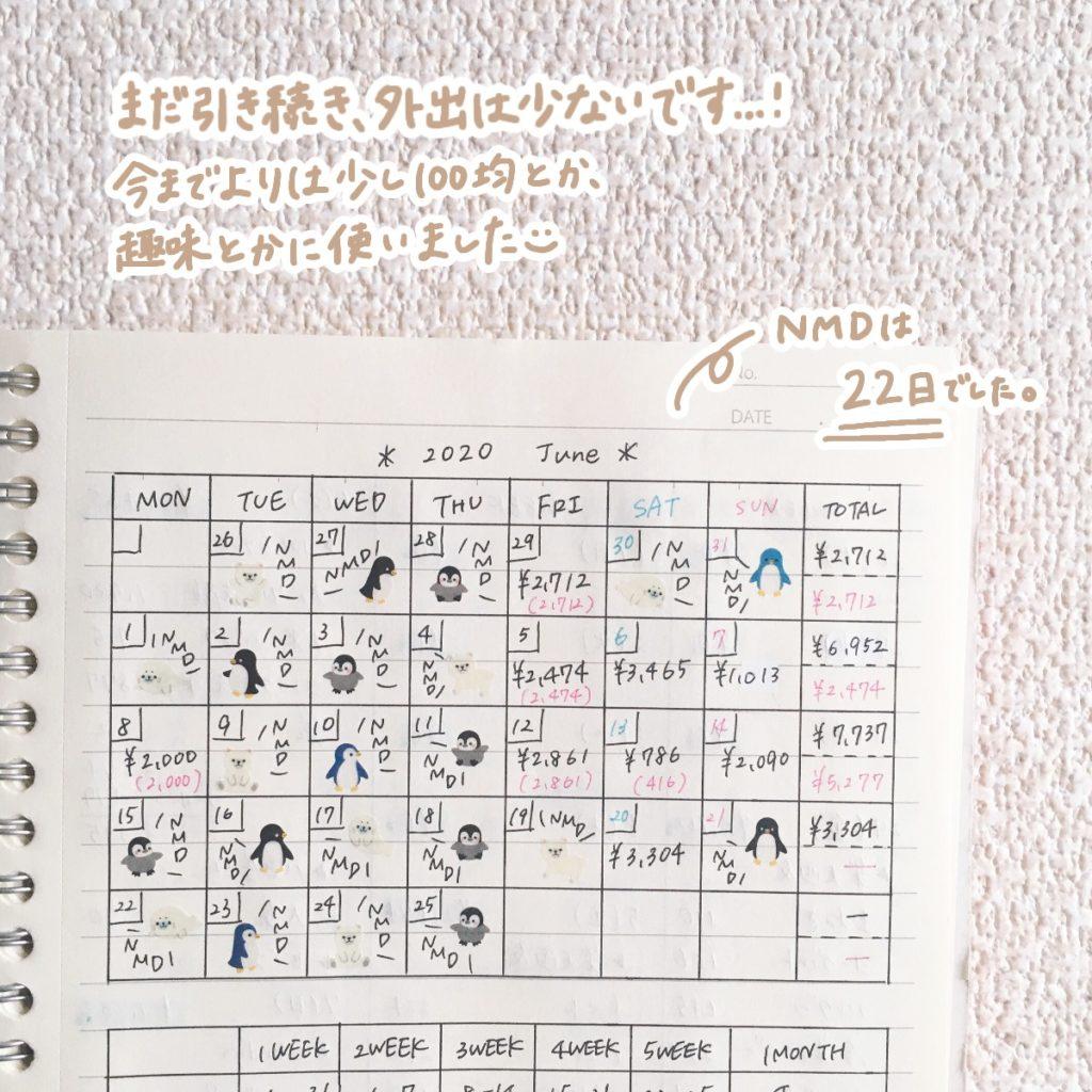 カレンダー形式の表